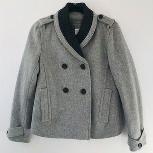 J.Crew Gray Stadium Wool Jacket